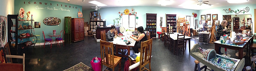 Icarus Creative Arts Studio And Gallery San Diego, California We Feature  Local Artists, Mosaics, Oil Paintings, Hand Painted Furniture
